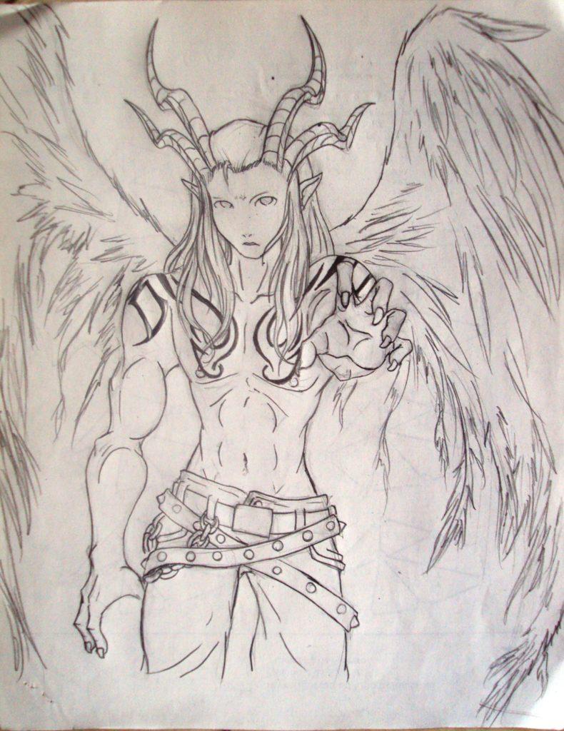 Fallen Angel Sketch