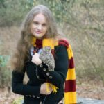 Hermione Granger with Owl