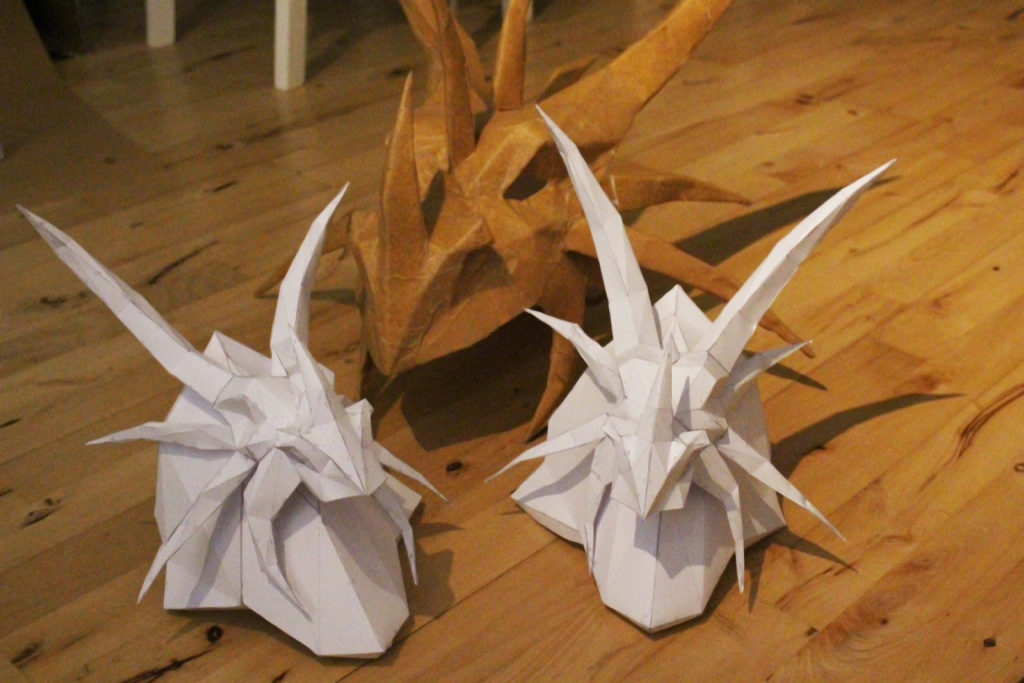 Dragons Pepakura cosplay Worbla