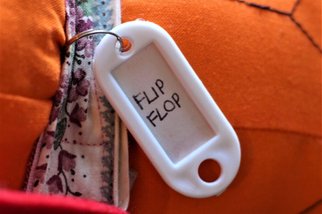 Flip-Flop Nametag