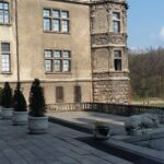 Moszna Castle Courtyard