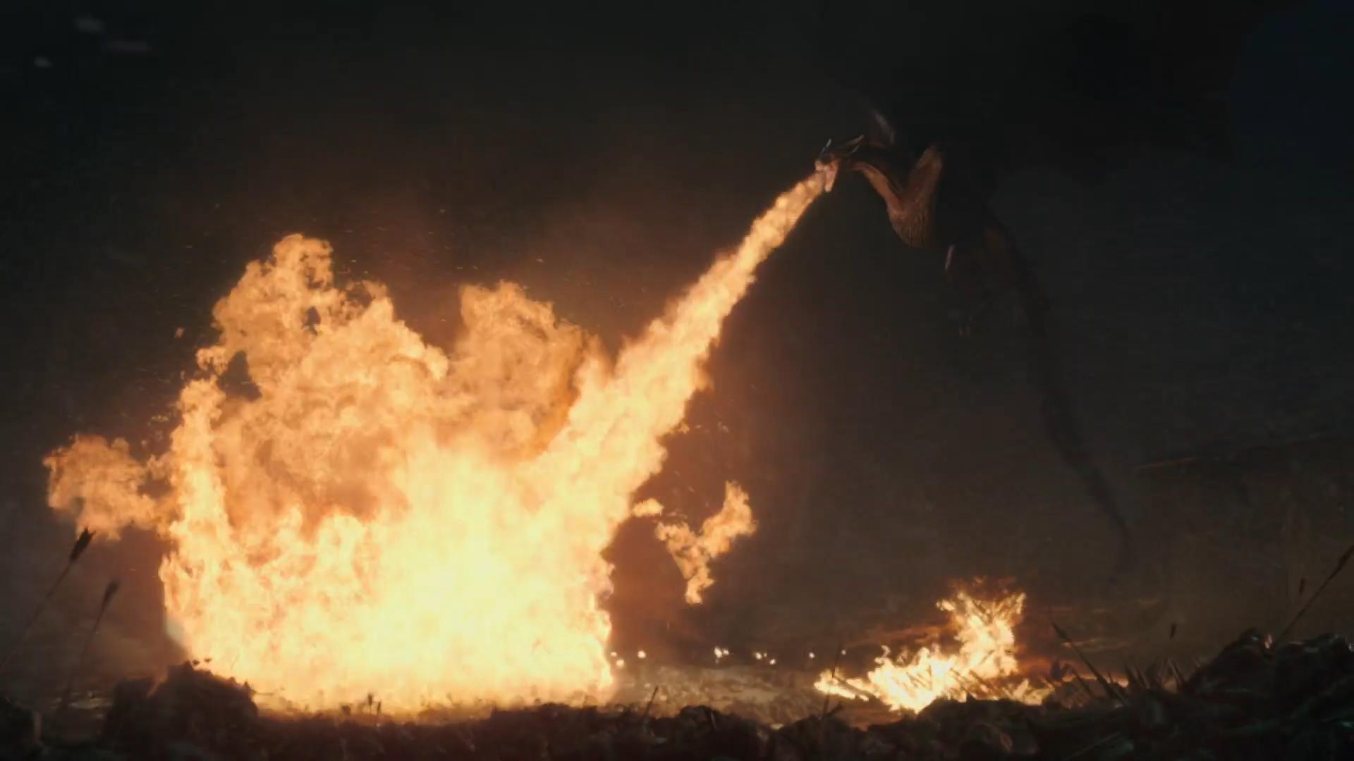 Game of Thrones Drogon Battle of Winterfell