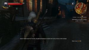 Witcher 3 Oxenfurt Drunk screenshot
