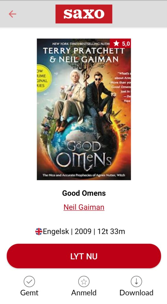 Good Omens Audiobook Saxo